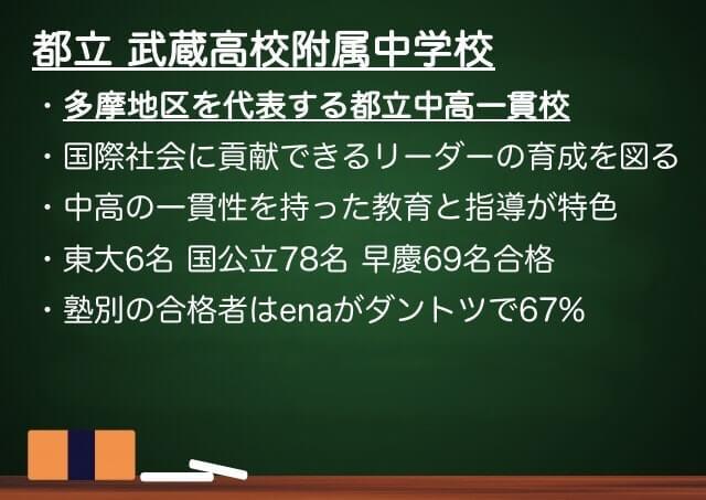 都立武蔵高校附属中学校まとめ