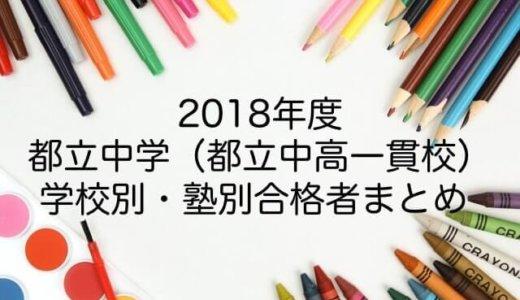 <2018年>都立中学 学校別・塾別合格者まとめ(合格者ランキング)